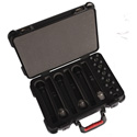 Gator GM-6W-TSA ATA Molded Case for 6 Wireless Mics - TSA Latches