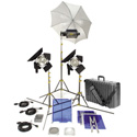 NEW GO Kit 98 2 OmniLights/1 Tota Light/3 Stand Kit