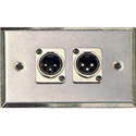 Contractor Series Wall Plate with 2 Male XLR