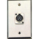 Contractor Series Wall Plate with 1 Female XLR