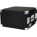 Grundorf ER-06R 6-Space Carpeted Equipment Rack BLACK CARPET