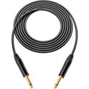 Canare GS-6 Instrument Cable w/Neutrik XS 1/4 Phone Plugs 25 Ft. Black