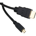 Micro HDMI Type D Male to HDMI Type A Male Cable 3 Foot