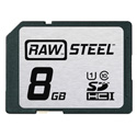 Hoodman RAWSDHC8GBU1 Raw Steel Class 10 SDHC Card - 8GB