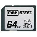 Hoodman RAWSDXC64GBU1 Raw Steel Class 10 SDHC Card - 64GB