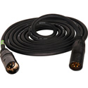 Connectronics 4-Pin XLR-M to Male 16 Gauge Heavy Duty Power Cable 3 Ft