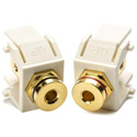 HellermannTyton Banana Jack Keystone Wall Plate Module-2 Pieces-Off Wht