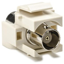 BNC Keystone Module for Wallplate-Ivory