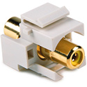 HellermannTyton RCA Female To Female Keystone Module with Yellow Stripe -White