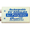 iPower Li-Polymer 500 MaH 9 Volt Battery