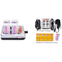 iPower 4 Bay 9V Battery Charger With 4 - 9v Lithium Polymer Batteries