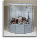 ClearSonic IsoPac A Drum Acoustic Isolation Booth w/ Closed Roof Light Gray
