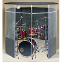 ClearSonic IsoPac B Drum Acoustic Isolation Booth w/ Closed Roof (Dark Gray)