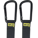 Rip-Tie J-B6-C02-BK 1x 6 Inch Carabiner 2-Pack Black