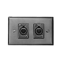 Switchcraft K3FS XLR Wall Plate - w/ Two D3F - Horizontal