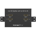 KanexPro HD4PTBSP 1x4 HDMI Splitter w/ 3D Support & 4K Cinema Resolutions