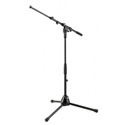 K&M 259 Tripod Microphone Stand 18-Inch to 25-Inch Low Profile 20.5-Inch Boom -