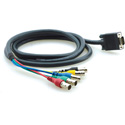 Kramer C-GM/5BF-10 Molded 15-pin HD (M) to 5 BNC (F) Breakout Cable - 10 Ft.