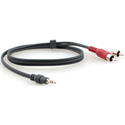 Kramer C-A35M/2RAM-15 3.5mm to 2 RCA Breakout Cable - 15ft