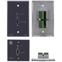 Kramer WXA-1 Passive Wall Plate 15-pin HD & 3.5mm Stereo Audio (Gray)