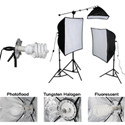Smith Victor KSB-1250F 3-Light 700 watt Fluorescent SoftBox Light Kit