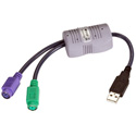 Black Box KVUSB2PS2 USB to PS/2 Flash-Upgradable Converter Cable