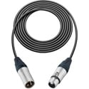 Pro Stage Series XLR Cable - 3 feet BLACK