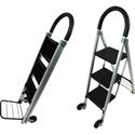 LadderKart 3 Step Heavy Duty Combo Ladder & Handtruck Cart