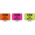 1x1.5 Warning Label 1000 Pk Orange (SYN Air Master)