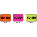 1x1.5 Warning Label 1000 Pk Orange (HD-SDI)