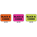 1x1.5 Warning Label 1000 Pk Orange (Black and Coded)