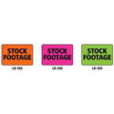 1x1.5 Warning Label 1000 Pk Orange (Stock Footage)