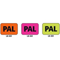 1x1.5 Warning Label 1000 Pk Orange (PAL)