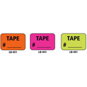1x1.5 Warning Label 1000 Pk Orange (Tape #)