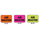 1x1.5 Warning Label 1000 Pk Orange (Air Master)