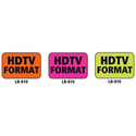 1x1.5 Warning Label 1000 Pk Orange (HDTV Format)
