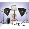 Lowel LC-9568 Rifa Big Triple Soft Tungsten Softlight Kit