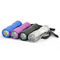 Ultra Bright 9 LED 3 AAA Flashlight In 12000 MCD - Black