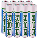 Lenmar R2GAAA8 Ready-To-Go Precharged NiMH Batteries -8 Pack AAA