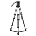 Libec RS-250R Professional 2-Stage Aluminum Tripod System w/ Floor Level Spreade