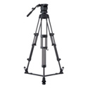 Libec RS-450R Professional 2-Stage Aluminum Tripod System w/ Floor Level Spreade