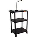 Luxor LP42E-B Plastic AV Cart / Presentation Table w/Electric 42Hx24W