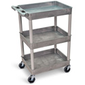 Gray 18x24 Three Shelf Tub Cart