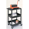 Black 18x24 Three Shelf Tub Cart