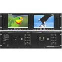 Marshall V-MD702 Dual 7in 3RU High Resolution LCD Rack Mount Monitor w/ Modular Input and Output