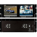 Marshall V-R82DP-2C Dual 8.4  LCD Rack Mount Panel with 2 Composite Video Input