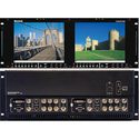 Marshall V-R842DP-AFHD Dual Screen 8.4 Inch HD/SD/DVI/XGA LCD Rack