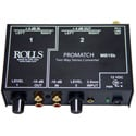 Rolls MB15b 3.5mm and RCA to XLR or XLR to RCA 2-Way ProMatch Converter
