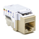 Cat 6 110 Punchdown Keystone Module-White