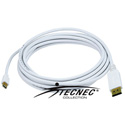 DisplayPort to Mini DisplayPort Male-Male - 15FT 32AWG - White
